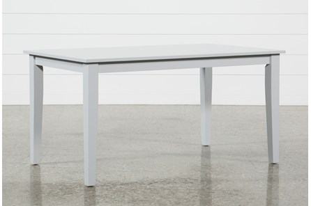 Lindy Dove Grey Rectangle Dining Table - Main