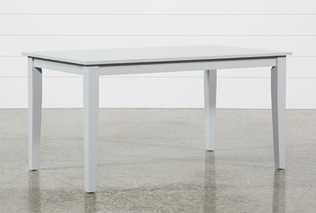 Lindy Dove Grey Rectangle Dining Table Living Spaces