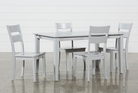 Lindy 5 Piece Dove Grey Rectangle Dining Set