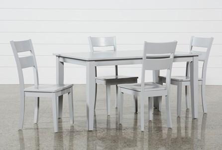Lindy 5 Piece Dove Grey Rectangle Dining Set