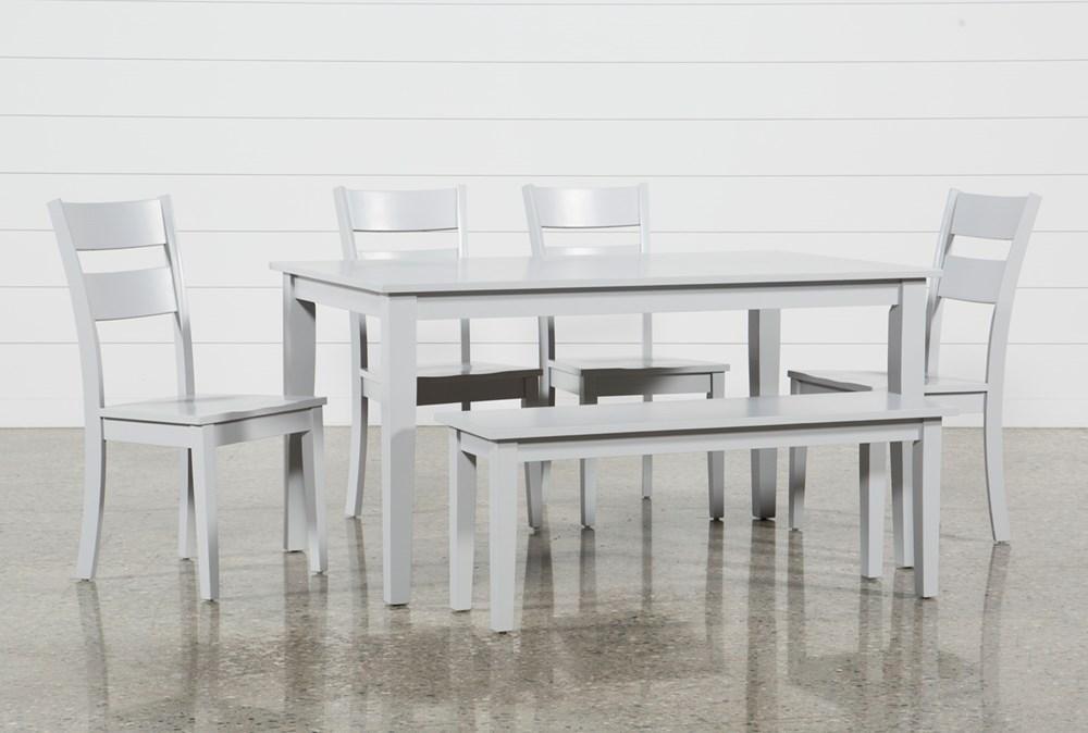 Lindy 6 Piece Dove Grey Rectangle Dining Set