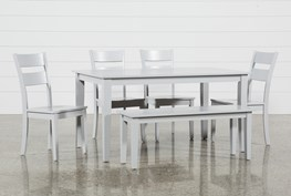 Lindy 6 Piece Dove Grey Rectangle Dining Set