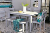 Lindy 6 Piece Dove Grey Rectangle Dining Set - Room