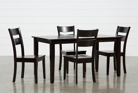 Lindy 5 Piece Espresso Rectangle Dining Set