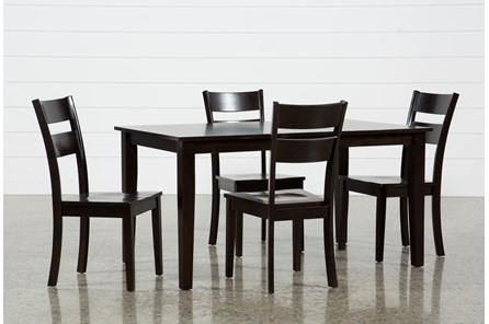 Lindy 5 Piece Espresso Rectangle Dining Set - Main