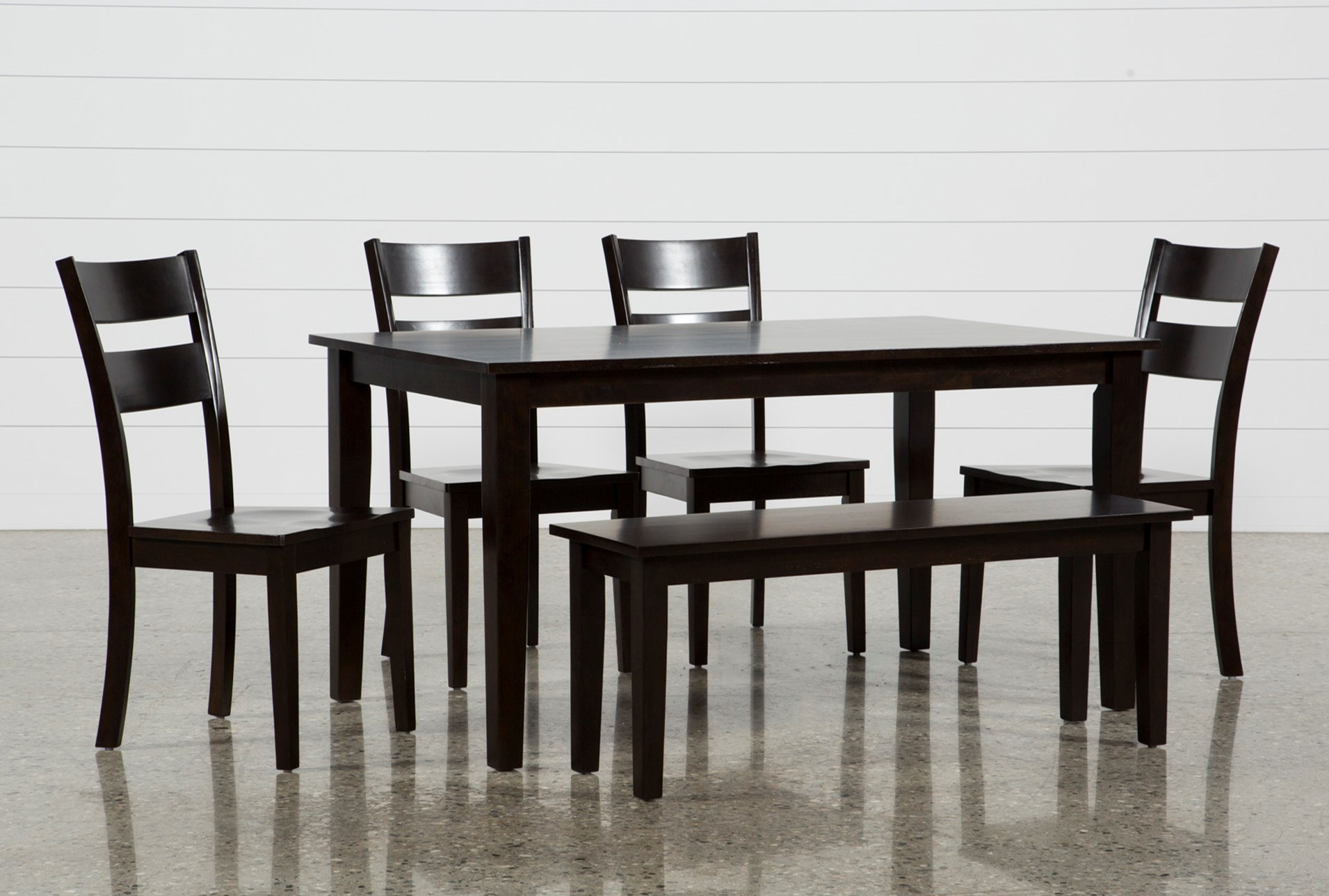 Lindy 6 Piece Espresso Rectangle Dining Set Living Spaces