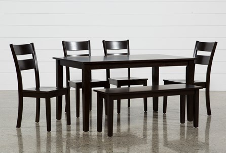 Lindy 6 Piece Espresso Rectangle Dining Set