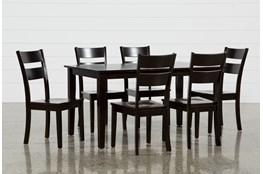 Lindy 7 Piece Espresso Rectangle Dining Set