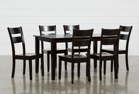 Lindy 7 Piece Espresso Rectangle Dining Set