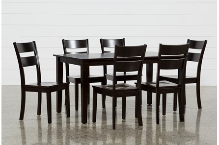 Lindy 7 Piece Espresso Rectangle Dining Set - Main