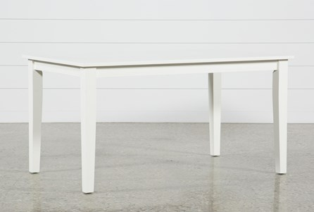 Lindy Paper White Rectangle Dining Table