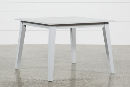Mandy Dove Grey Square Dining Table
