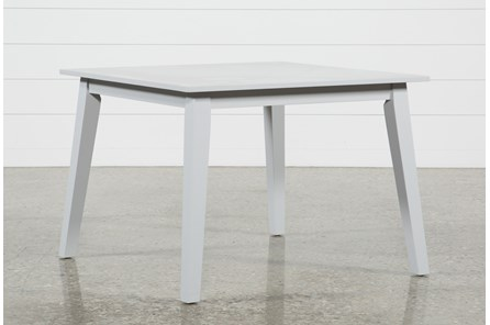 Mandy Dove Grey Square Dining Table - Main