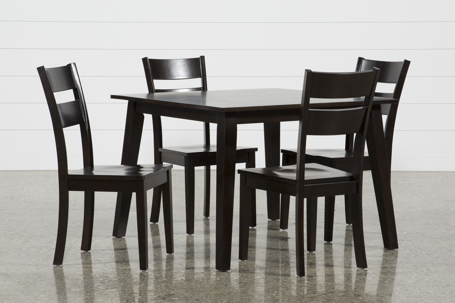 Mandy 5 Piece Espresso Square Dining Set