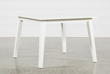 Mandy Paper White Square Dining Table