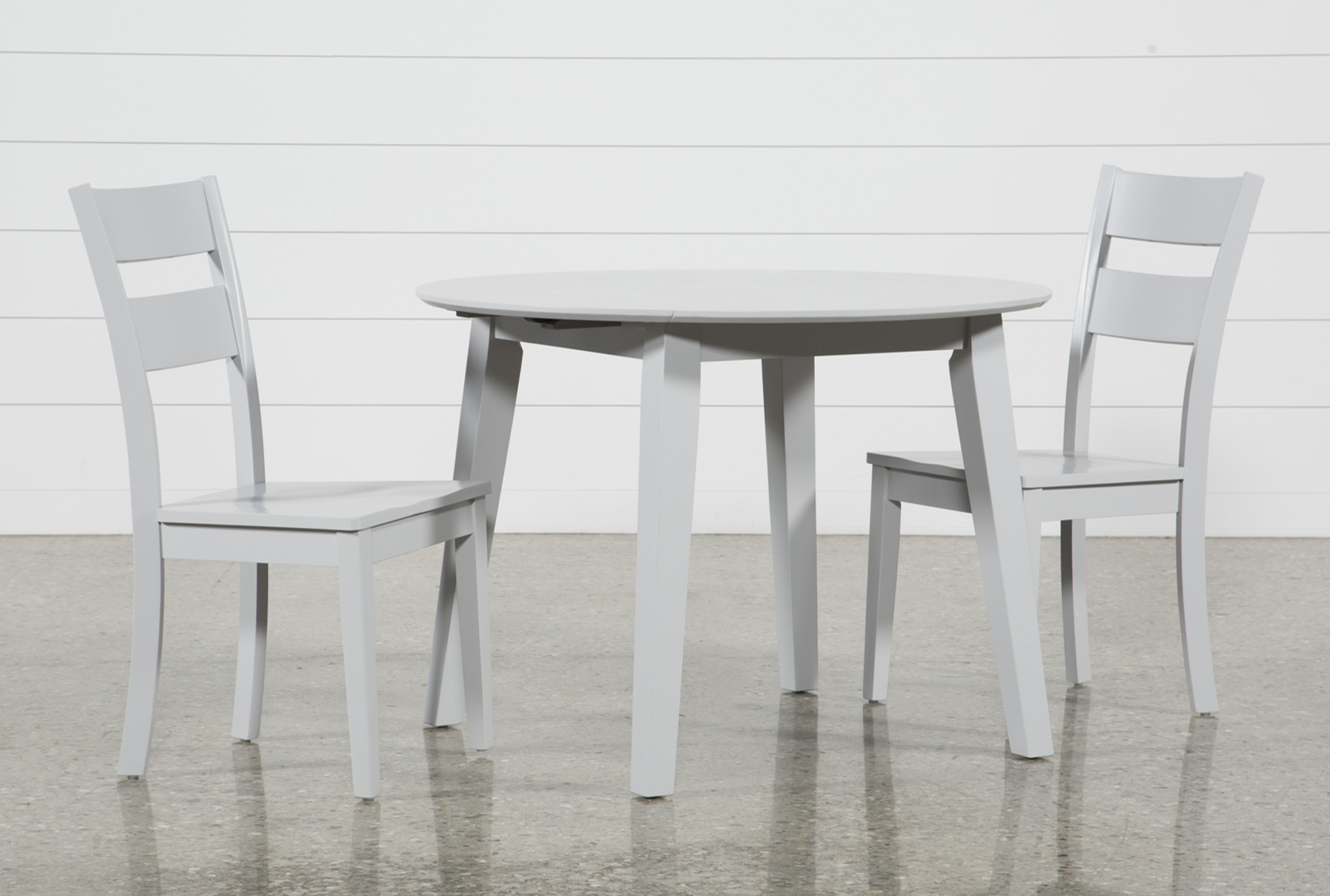 Moxy 3 Piece Dove Grey Round Dining Set (Qty: 1) Has Been Successfully  Added To Your Cart.
