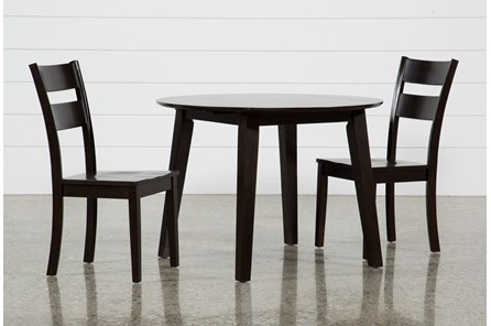 Moxy 3 Piece Espresso Round Dining Set - Main