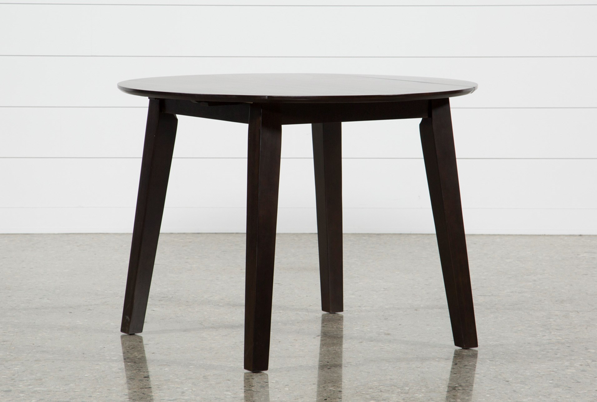moxy espresso round dining table living spaces. Black Bedroom Furniture Sets. Home Design Ideas