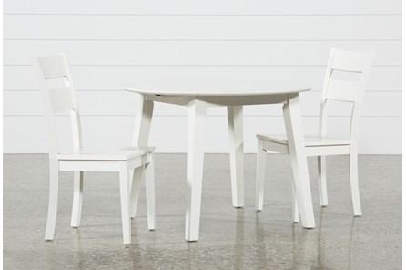 Moxy 3 Piece Paper White Round Dining Set - Main