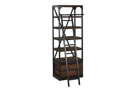 Vansda Small Bookcase With Ladder