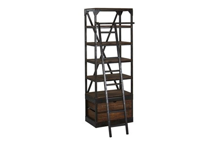 Vansda Small Bookcase With Ladder - Main