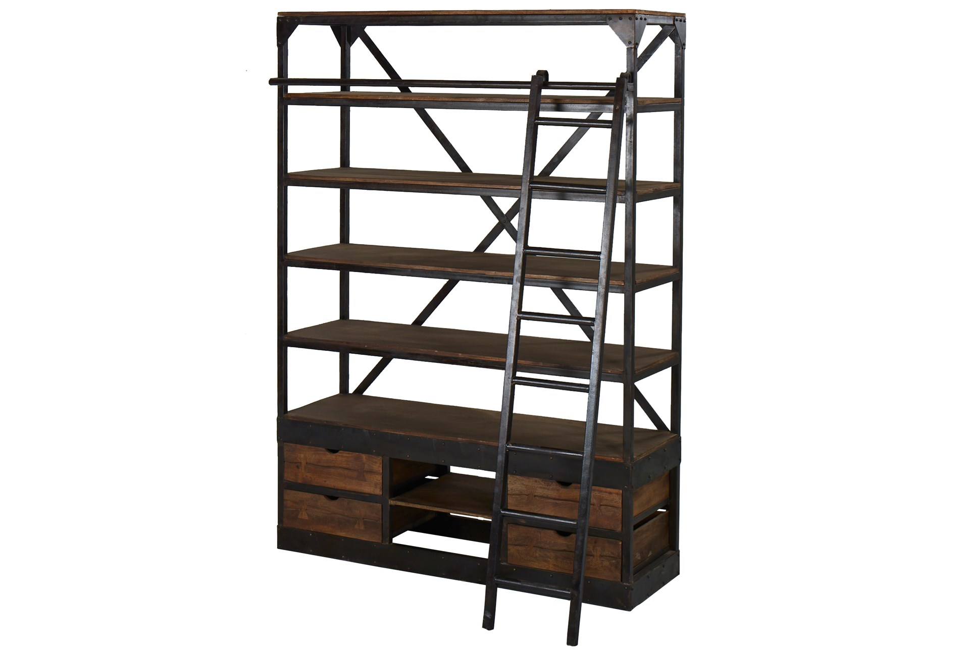 the best attitude 0e5c8 e5797 Vansda Large Bookcase With Ladder