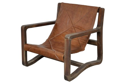 Galathea Leather Accent Chair