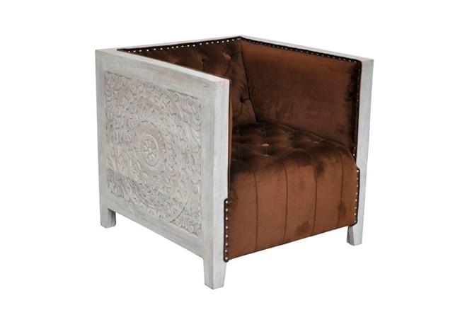 Cawad Velvet Accent Chair - 360