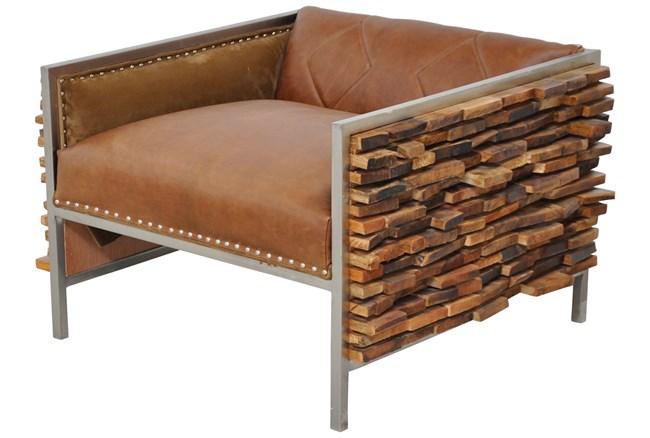 Tukada Wooden Accent Chair - 360