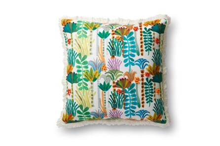 Accent Pillow-Justina Blakeney Botanicals W/Fringe Multi 23X23 - Main