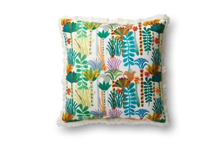 Accent Pillow-Justina Blakeney Botanicals W/Fringe Multi 23X23 - Main