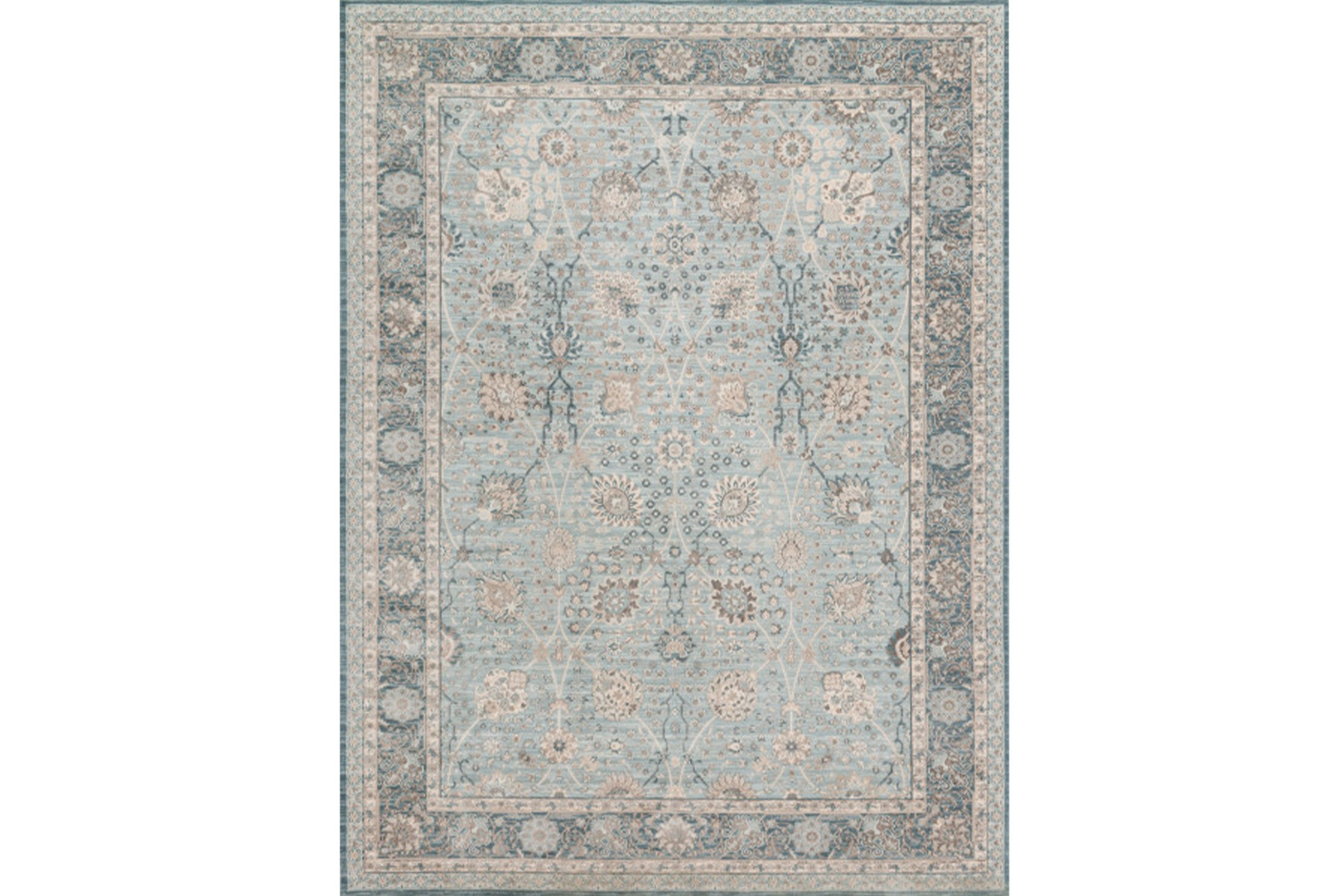 94x126 Rug Magnolia Home Ella Rose Lt Blue Dk Blue By Joanna Gaines