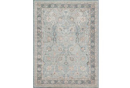 94X126 Rug-Magnolia Home Ella Rose Lt Blue/Dk Blue By Joanna Gaines