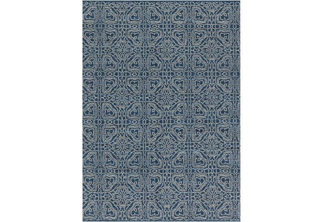 60X96 Rug-Magnolia Home Emmie Kay Navy/Cream By Joanna Gaines - 360