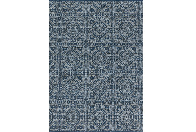 93X117 Rug-Magnolia Home Emmie Kay Navy/Cream By Joanna Gaines - 360