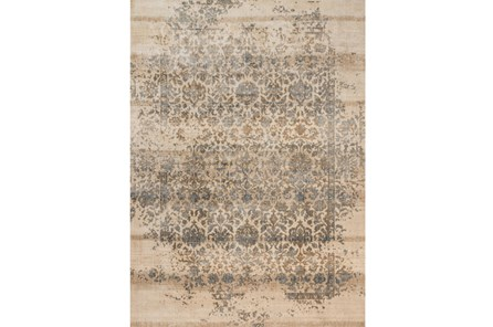 94x130 Rug Magnolia Home Kivi Ivory Quarry By Joanna Gaines