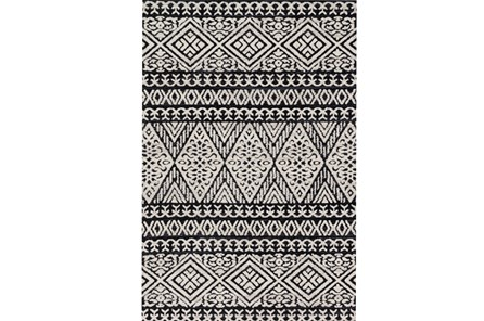 93X117 Rug-Magnolia Home Lotus Diamond Black/Silver By Joanna Gaines - Main
