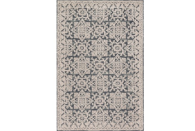 60X90 Rug-Magnolia Home Lotus Fog/Beige By Joanna Gaines - 360