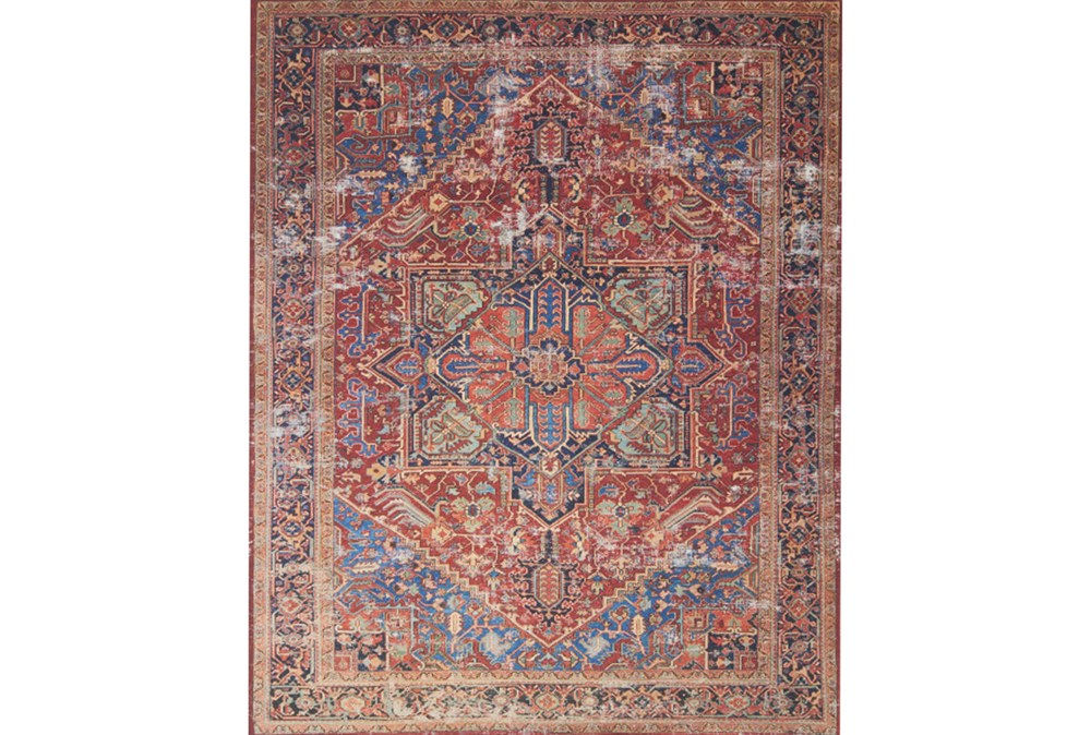 """5'x7'5"""" Rug-Magnolia Home Lucca Red/Blue By Joanna Gaines"""