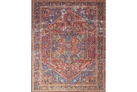 60X90 Rug-Magnolia Home Lucca Red/Blue By Joanna Gaines