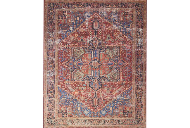 """5'x7'5"""" Rug-Magnolia Home Lucca Red/Blue By Joanna Gaines - 360"""