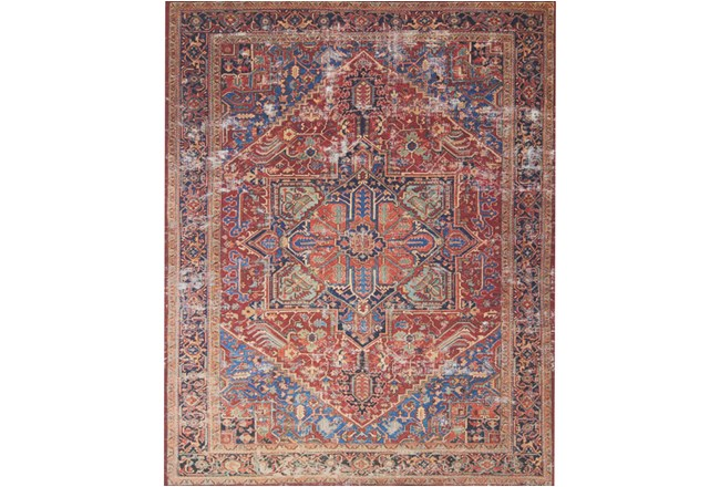 60X90 Rug-Magnolia Home Lucca Red/Blue By Joanna Gaines - 360
