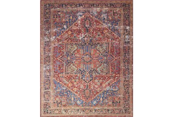 """7'5""""x9'5"""" Rug-Magnolia Home Lucca Red/Blue By Joanna Gaines"""