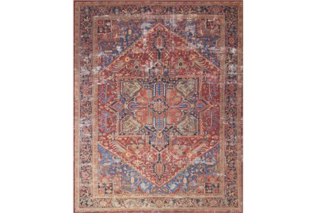 90X114 Rug-Magnolia Home Lucca Red/Blue By Joanna Gaines