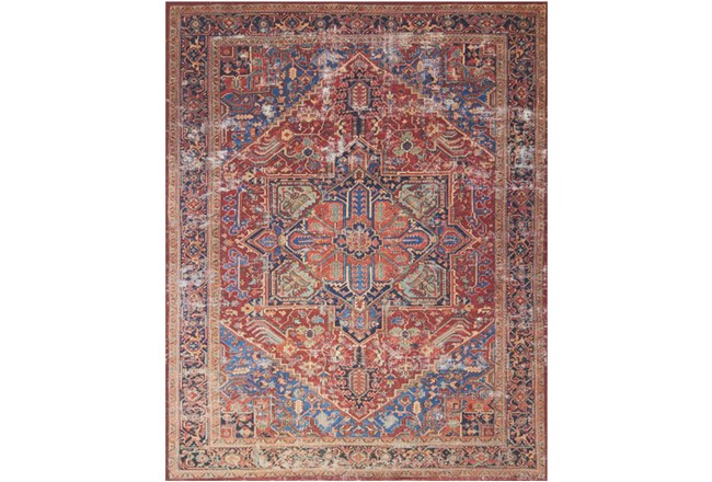 90X114 Rug-Magnolia Home Lucca Red/Blue By Joanna Gaines - 360