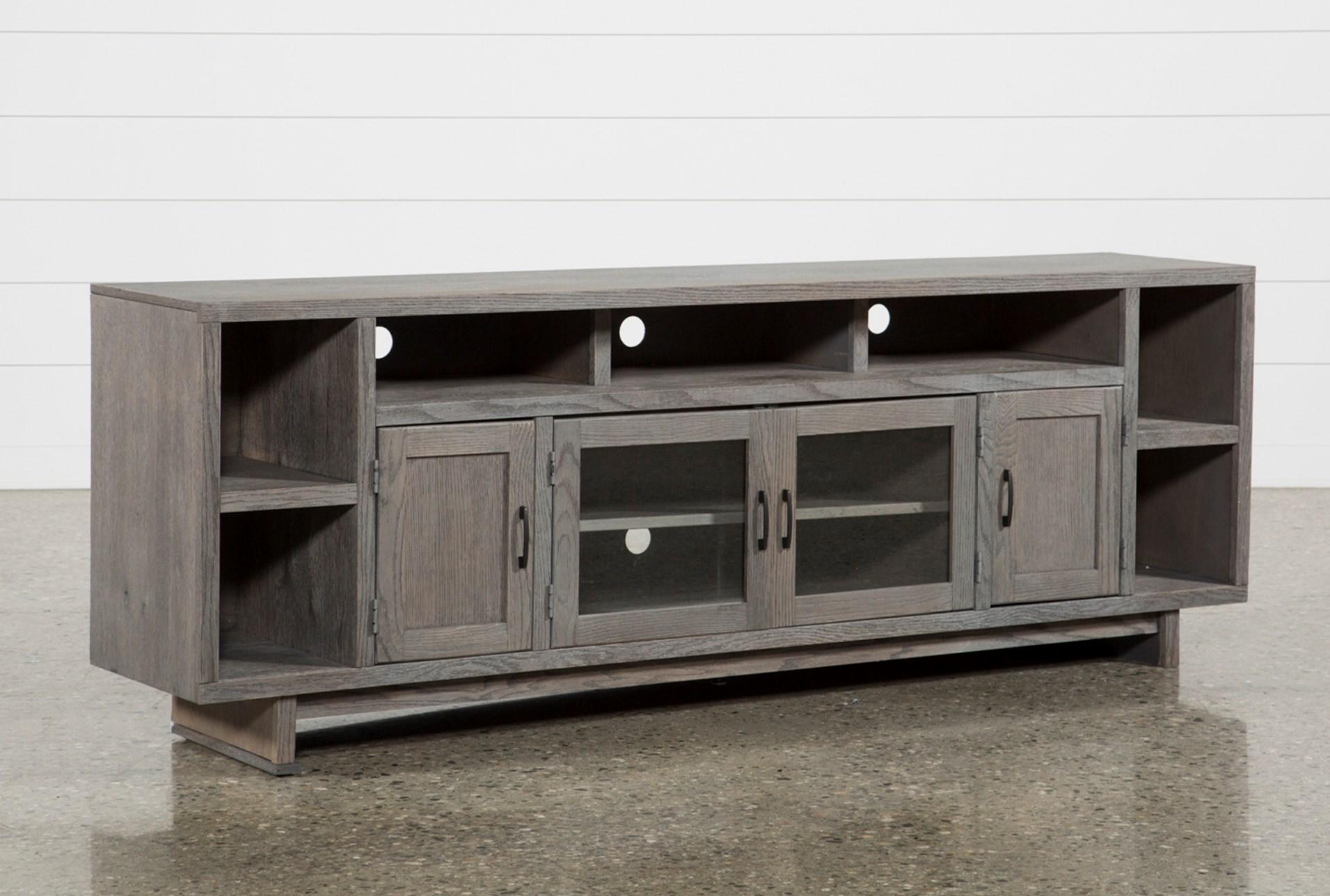 Melrose Titanium 84 Inch Tv Stand Living Spaces