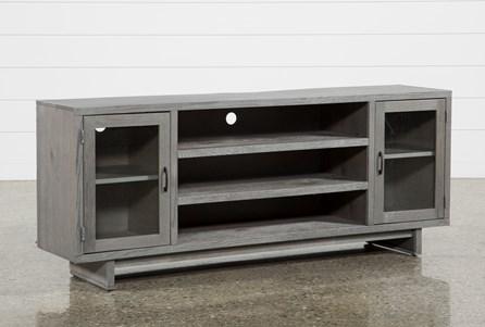 Melrose Titanium 74 Inch TV Stand