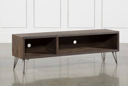 Melrose Barnhouse Brown 65 Inch Lowboy TV Stand