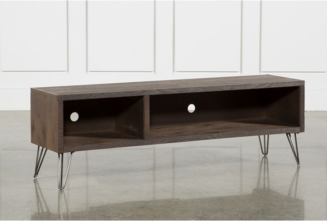 Melrose Barnhouse Brown 65 Inch Lowboy TV Stand - 360