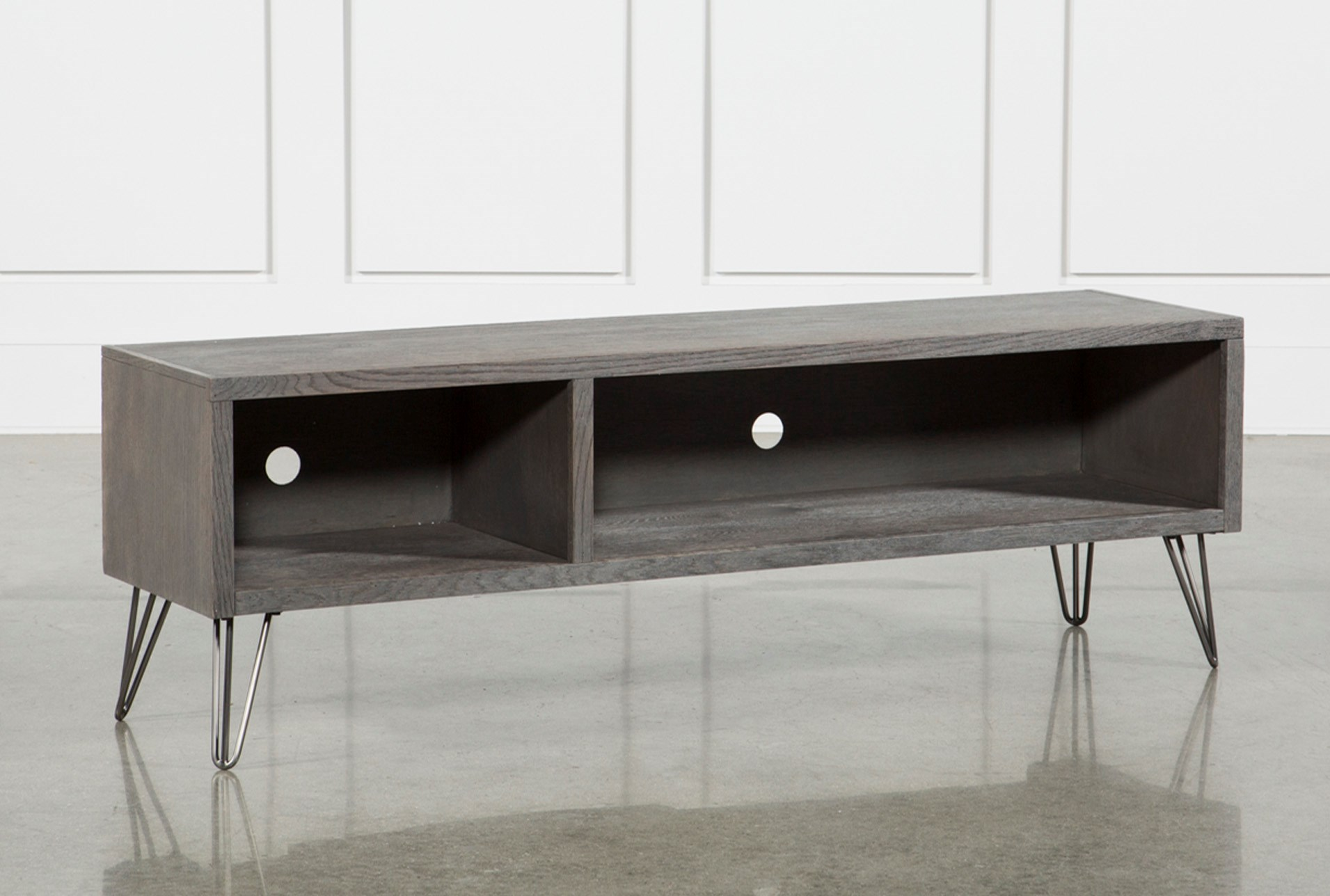 Melrose Titanium 65 Inch Lowboy Tv Stand Living Spaces